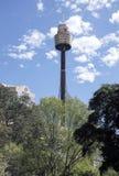 SYDNEY, AUSTRALIA widok Sydney wierza wysoka struktura w mieście - Sept 15, 2015 - Zdjęcia Stock