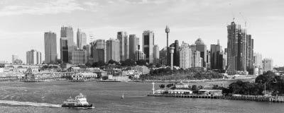 Sydney, Australie, à b ; ACK et blanc Images stock