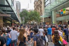 Sydney, Australie - 26 décembre 2015 : Croud des personnes au fa Images stock