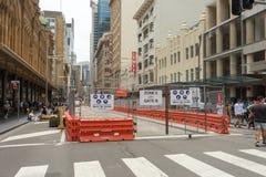 Sydney, Australie - 26 décembre 2015 : Foule des personnes au fa Photos stock
