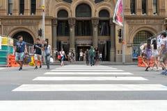 Sydney, Australie - 26 décembre 2015 : Foule des personnes au fa Images stock