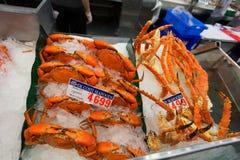SYDNEY, AUSTRALIE - 19 MARS 2015 : Crevettes roses sur Sydney Fish Market Photos libres de droits