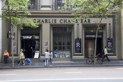 Sydney, Australie 15 mars 2013 : : La barre de Charlie Chan sur George Photographie stock libre de droits