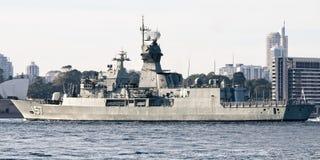 SYDNEY, AUSTRALIE - 5 octobre 2013 : Navires de guerre aux célébrations australiennes de centenaire de marine images stock