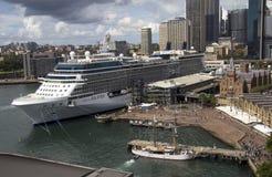 SYDNEY AUSTRALIEN APRIL 7TH: Solståndet för kändis för kryssningskepp in Fotografering för Bildbyråer