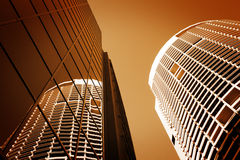 Sydney Australien högväxt byggnadsskyskrapor Royaltyfria Bilder