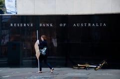 SYDNEY AUSTRALIEN - MAJ 5, 2018: Reserve Bank av Australien byggande Royaltyfria Bilder