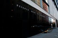 SYDNEY AUSTRALIEN - MAJ 5, 2018: Reserve Bank av Australien byggande Arkivbild