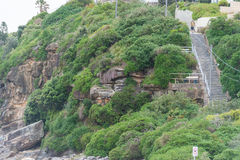 SYDNEY, AUSTRALIEN - 15. NOVEMBER 2014: Strand und Treppe Tamarama in Sydney, Australien Lizenzfreie Stockfotografie