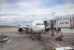 SYDNEY AUSTRALIEN - SEPTEMBER 6: boeing 777 - 300 hm av emirater Royaltyfri Fotografi