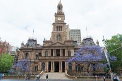 SYDNEY, AUSTRLIA - 11 DE NOVEMBRO DE 2014: Sydney Town Hall Foto de Stock Royalty Free