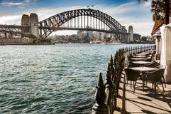 Sydney bay and Bridge Stock Photo