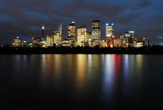 Sydney bij nacht Royalty-vrije Stock Foto