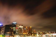Sydney bij Nacht Stock Foto