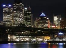 Sydney bij Nacht Stock Foto's