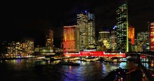 Sydney bis zum Night Stockfotos