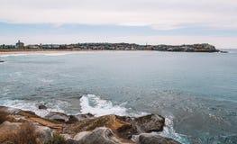 Sydney Bondi Beach with Waves stock photos