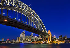 Sydney Bridge 40 CBD Sunset Royalty Free Stock Images