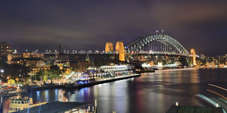 Sydney Bridge From Circular Panorama Sunset Stock Photography