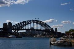Sydney Bridge with Cloudy Day stock image