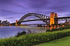 Sydney Bridge Green Side set Stock Photos