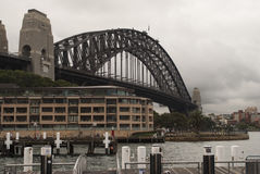 Sydney bridge with hotel in fore ground Royalty Free Stock Photo