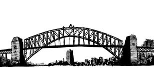 Sydney bridge illustration Royalty Free Stock Image