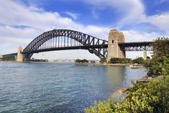Sydney Bridge Milsons Right trees Royalty Free Stock Photo
