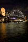 Sydney Bridge Night Stock Photography