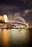 Sydney Bridge Night Stock Photos