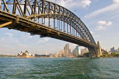 Sydney Bridge and Opera theatre Royalty Free Stock Photography