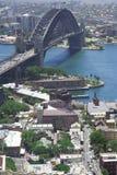 Sydney bridge rocks Stock Images