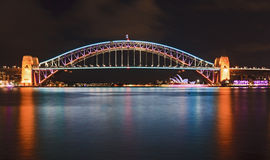Sydney Bridge Vivid Side Royalty Free Stock Photo