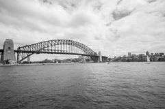 SYDNEY BW December30,2010: Sydney Harbour Bridge in Sydney, Stockfotografie