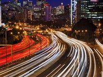 Sydney Cahill miasta zamknięty Ruchliwie zmierzch obraz royalty free