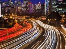 Sydney Cahill miasta zamknięty Ruchliwie zmierzch fotografia royalty free