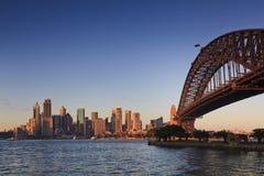 Sydney CBD Bridge Sunrise Royalty Free Stock Photos