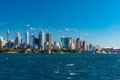 Sydney CBD cityscape with iconic landmark Sydney Opera House Stock Photo