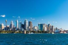 Sydney CBD cityscape with iconic Sydney Opera House Royalty Free Stock Photo