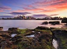 Sydney CBD Cremorne depresji kamienie zdjęcie royalty free
