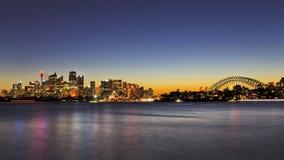 Sydney CBD_Cremorne Dusk Panorama Stock Image