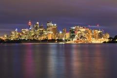 Sydney CBD Cremorne 76mm zmrok obrazy royalty free