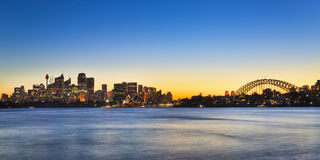 Sydney CBD Cremorne 01 panorama Stock Images