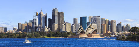 Sydney CBD Day From Boat panorama Royalty Free Stock Photography