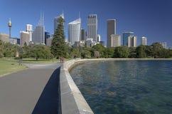Sydney CBD e giardini botanici reali Fotografia Stock