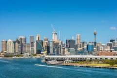 Sydney CBD e porto Immagine Stock Libera da Diritti