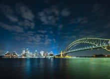 Sydney CBD en Havenbrug Stock Afbeelding