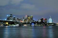 Sydney CBD en la noche Imagenes de archivo