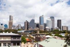 Sydney CBD från konungkors Arkivbilder