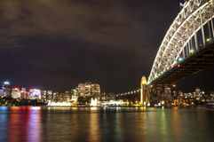 Sydney CBD and Harbour Bridge. Sydney Harbour Bridge leading to the Central Business District over the harbour Royalty Free Stock Image